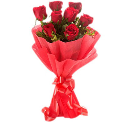 Half dozen red roses  Flower bouquet